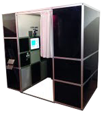 Our sleek black booth